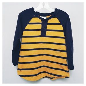 Hanna Andersson Striped Henley Tee